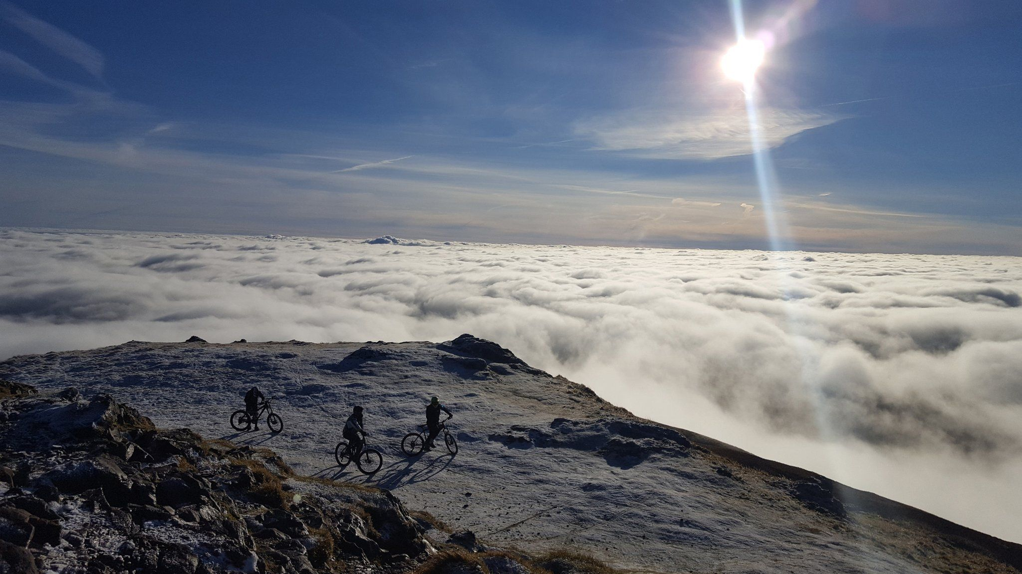 Bikers on Dumyat