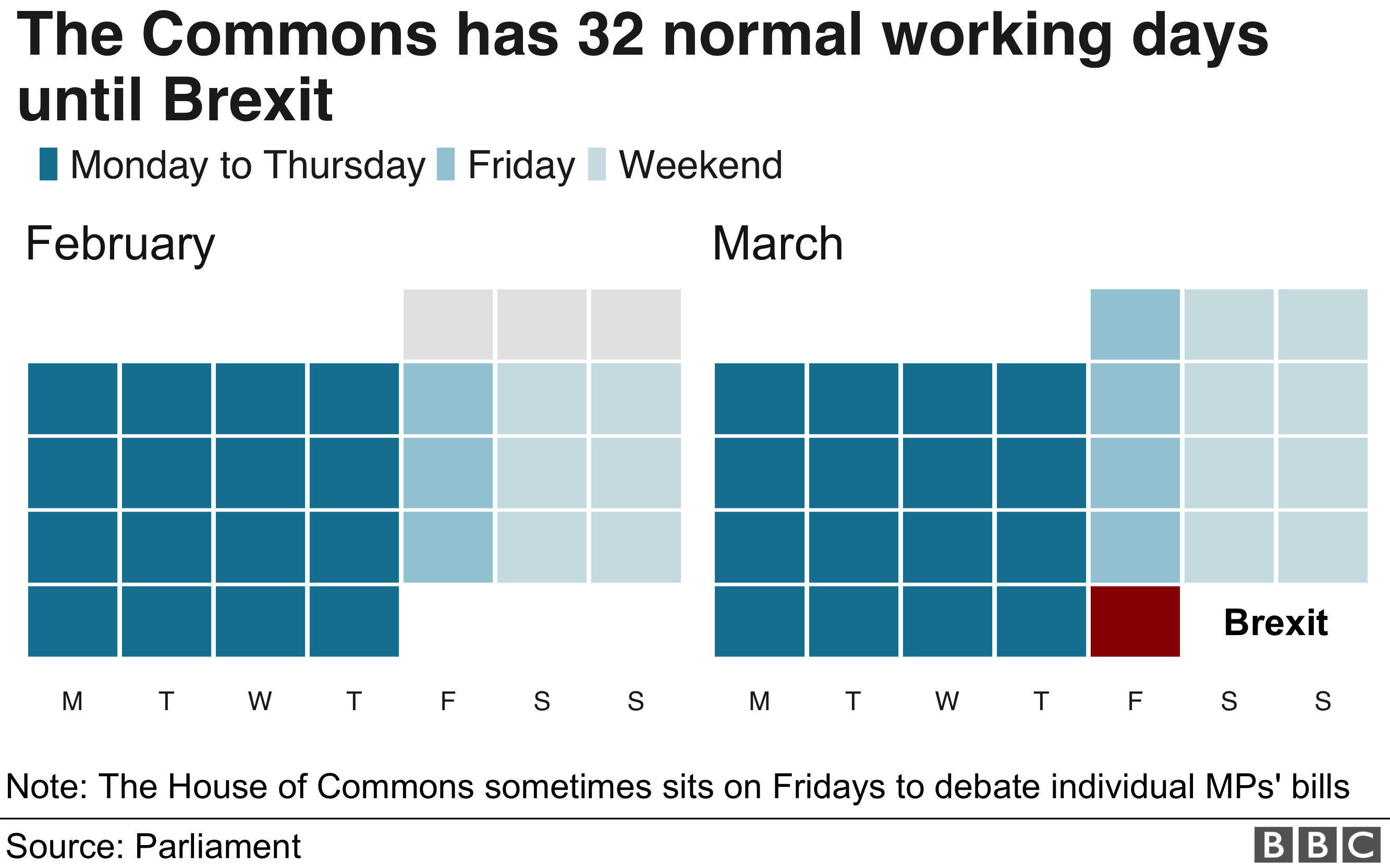 Parliament calendar