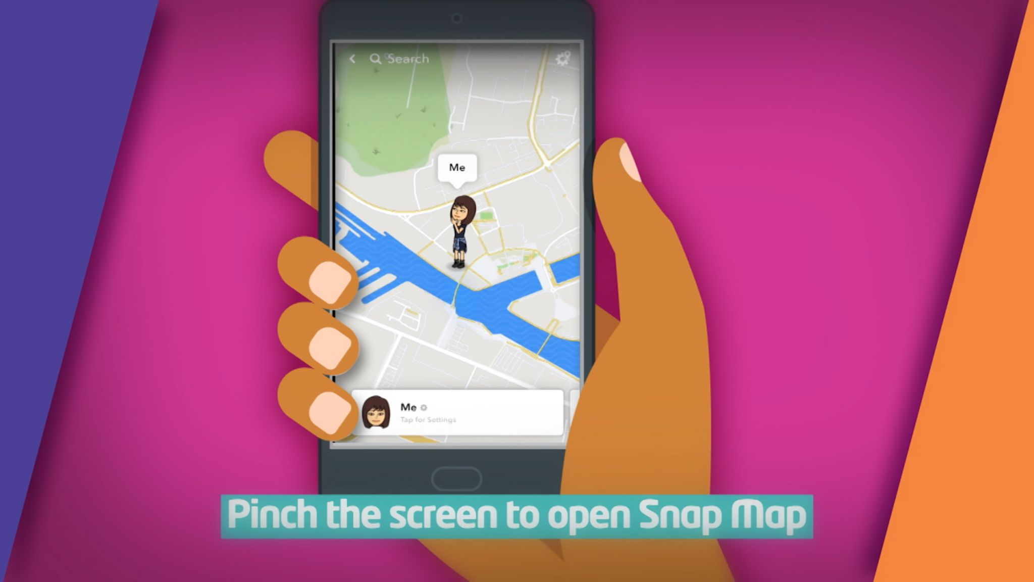 Picture of pinching snap map