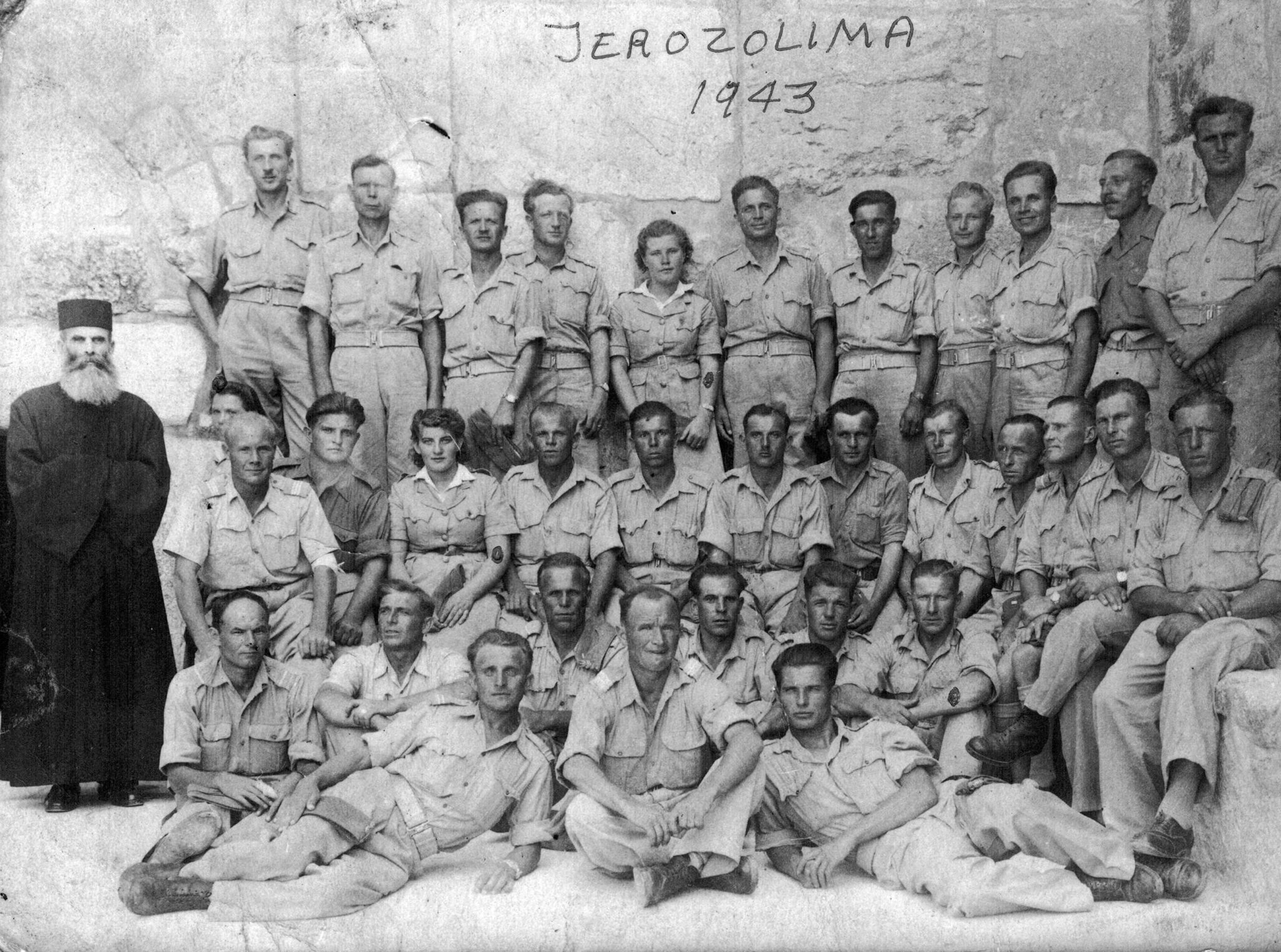Krystyna visited Jerusalem with her father's division in 1943