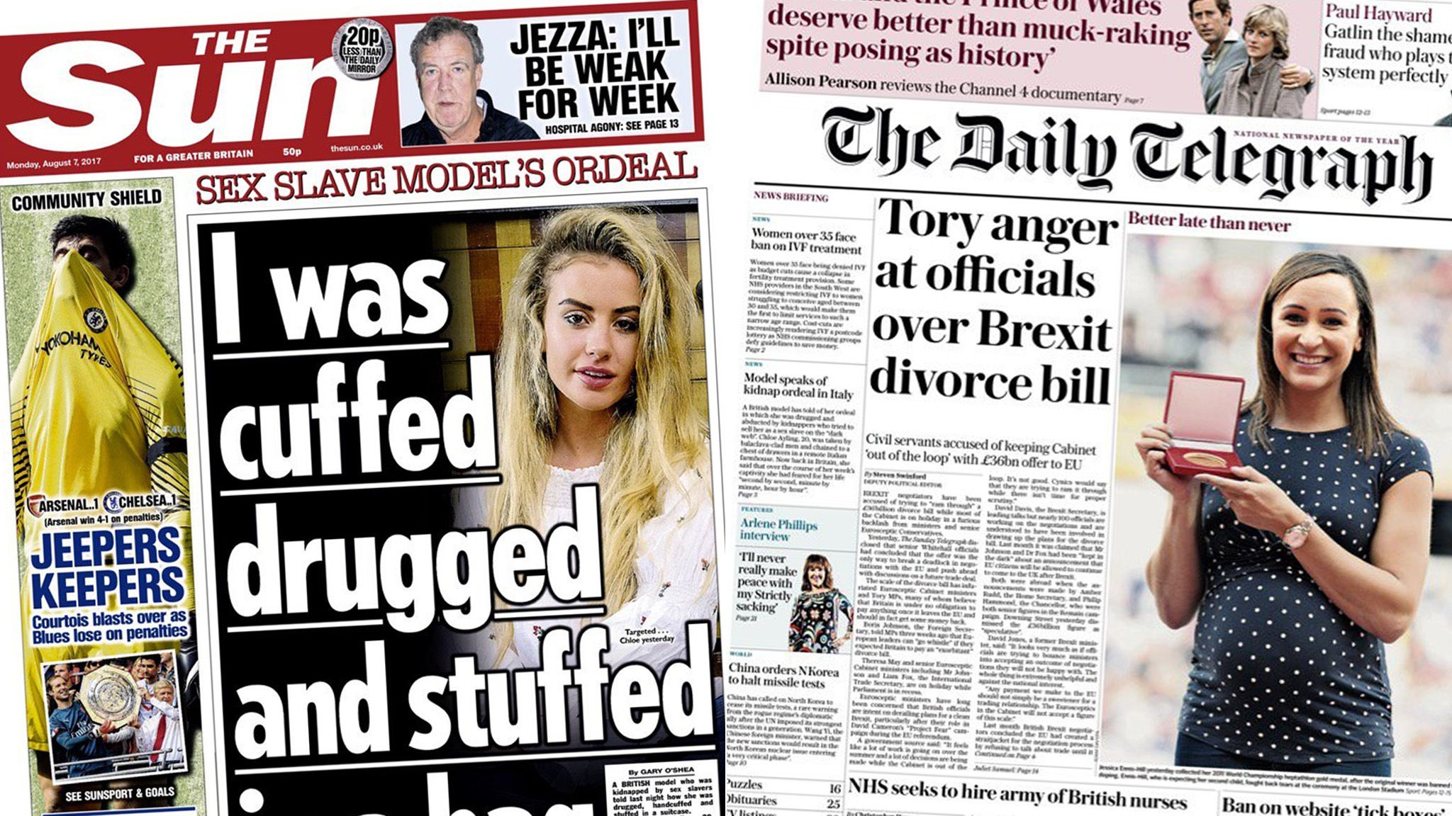 The Sun and Daily Telegraph