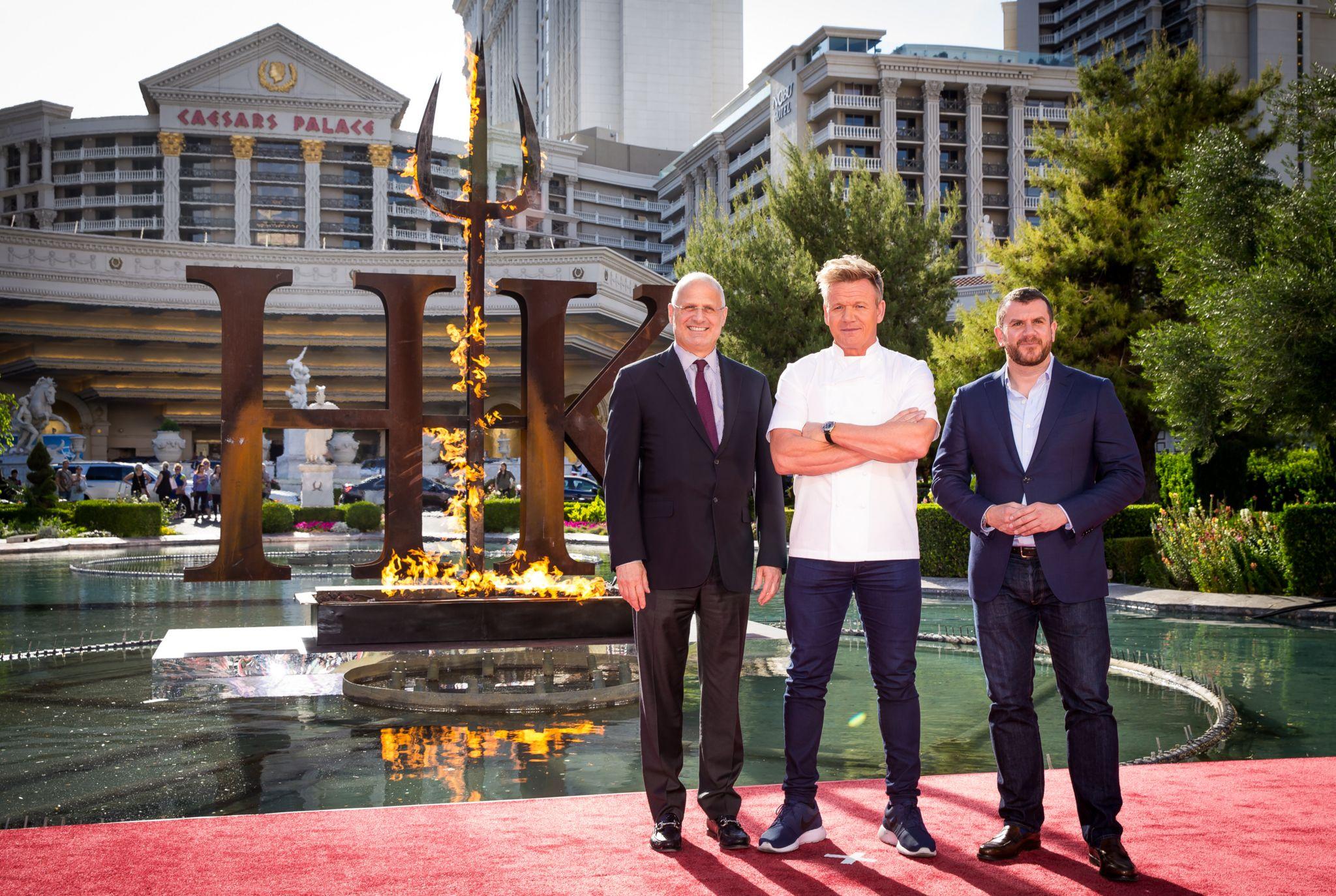 Gordon Ramsay outside Hell's Kitchen restaurant in Las Vegas