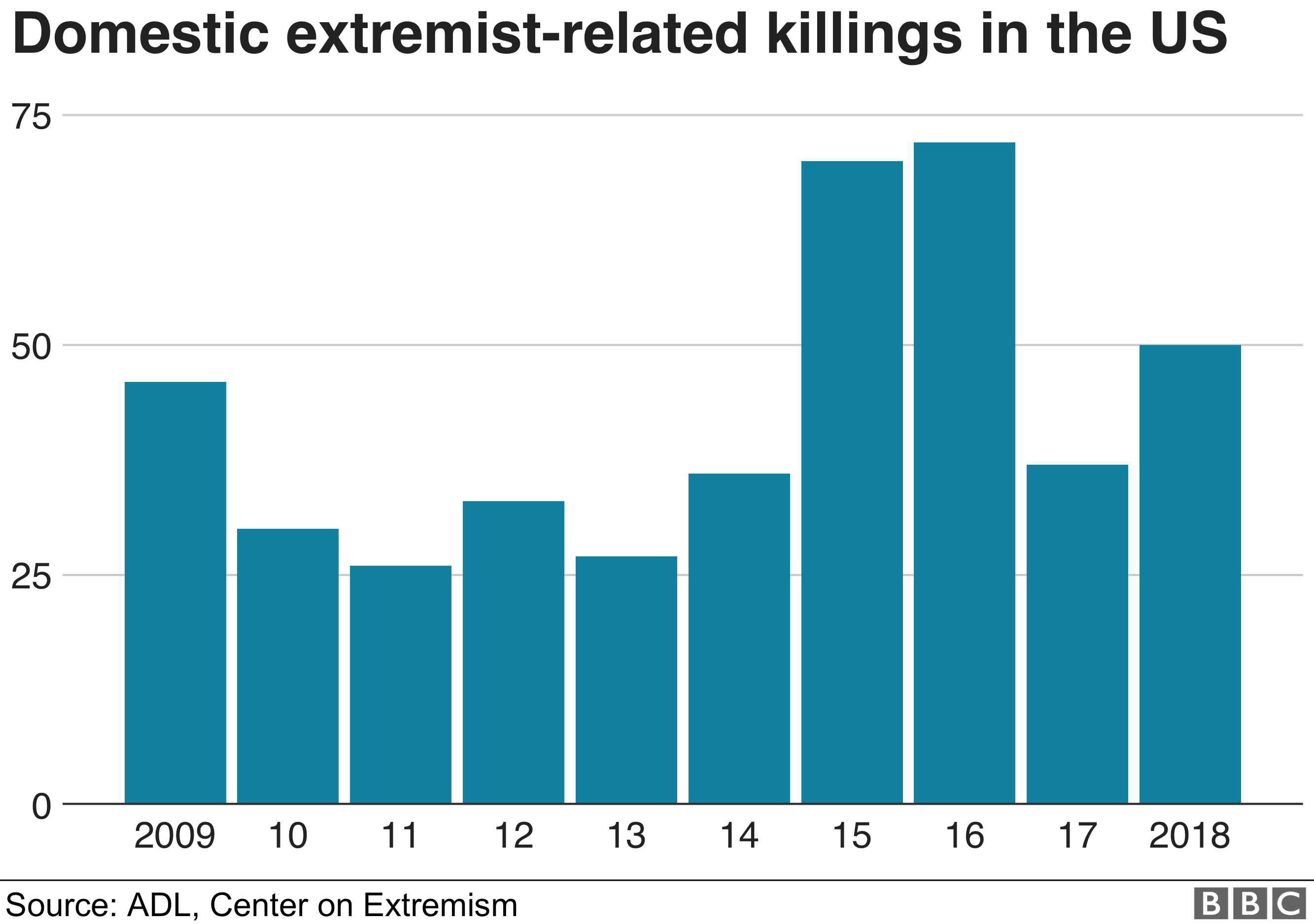 Domestic extremist cases in the US