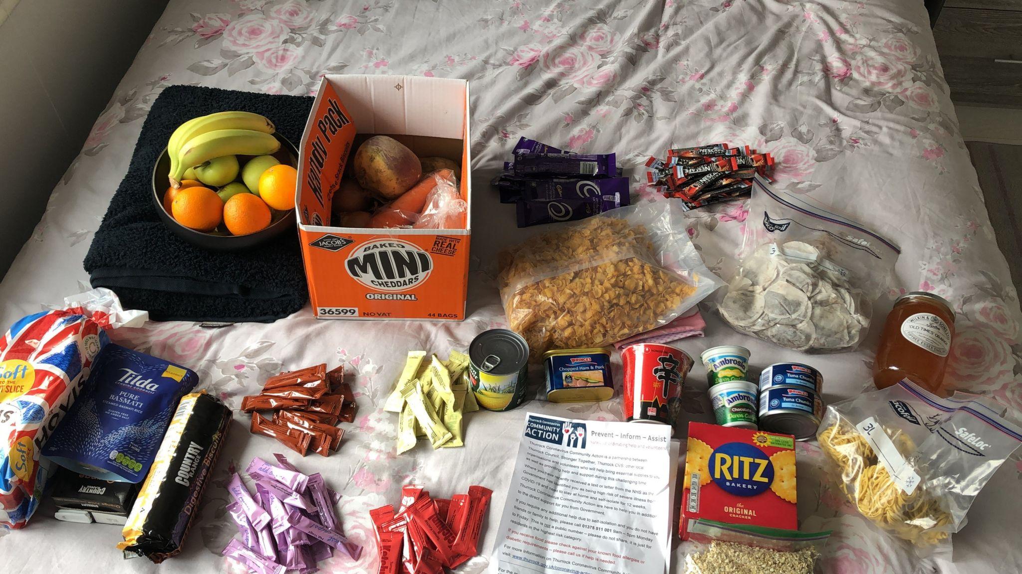Food parcel for Emma Timberlake