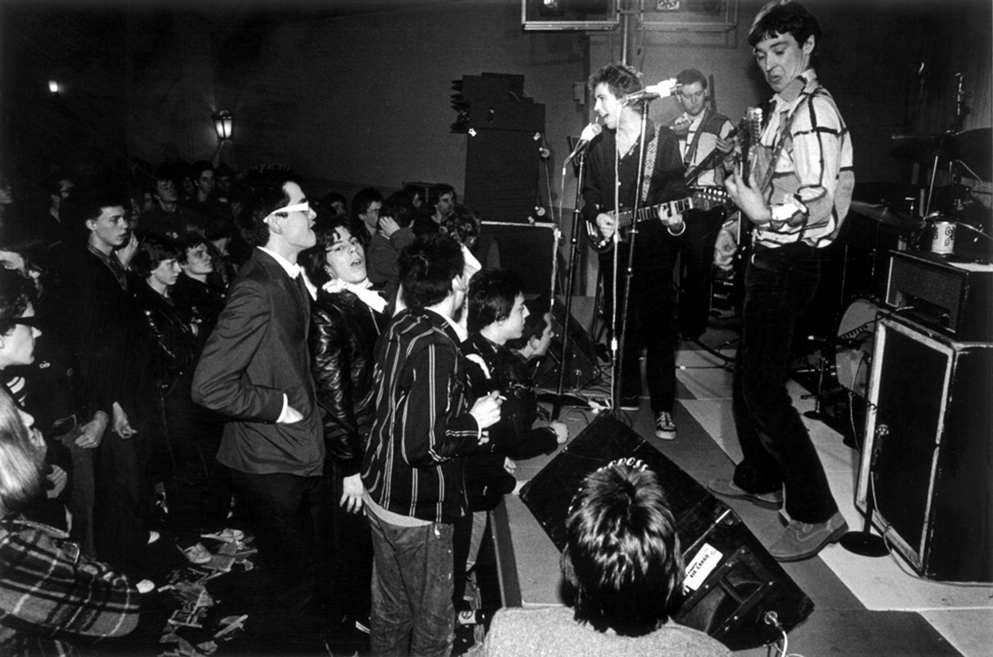 Buzzcocks performing a small gig, circa 1977