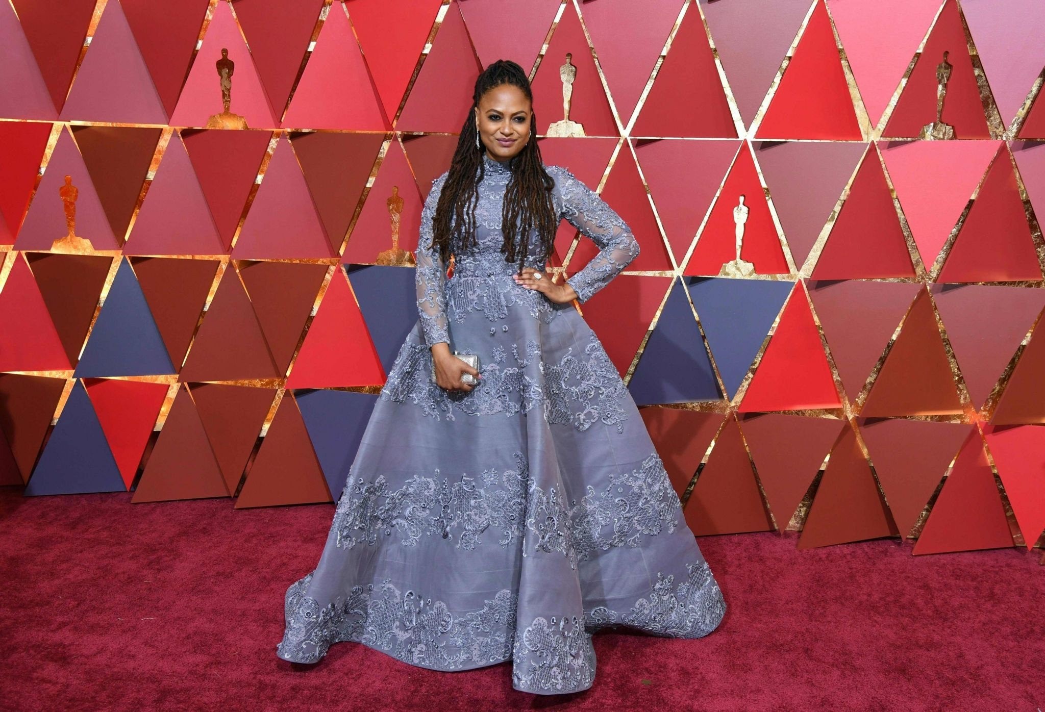 """Nominee for Best Documentary Feature """"13th"""" Ava DuVernay arrives on the red carpet for the 89th Oscars"""