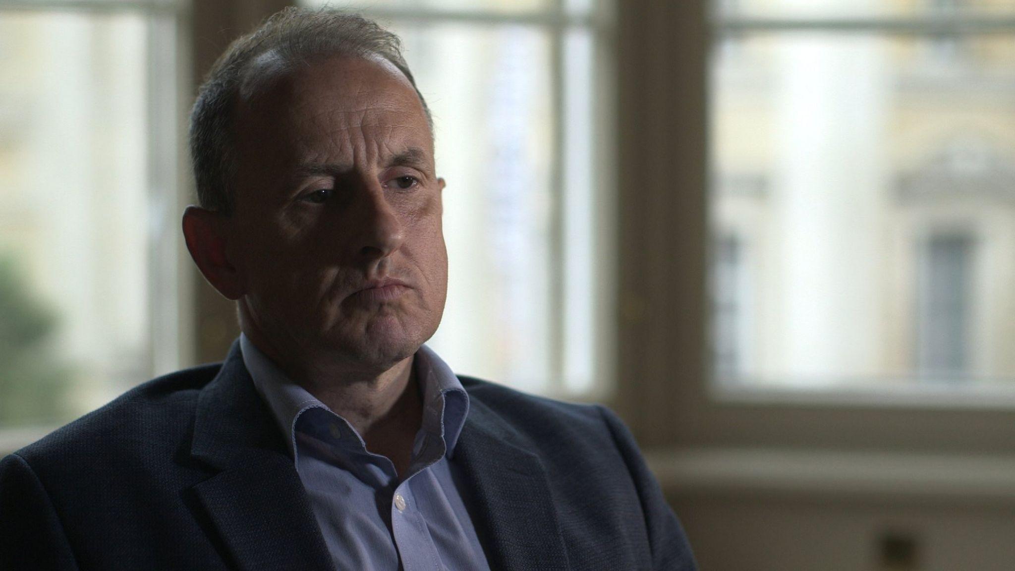 Frank Ledwidge being interviewed by BBC Panorama