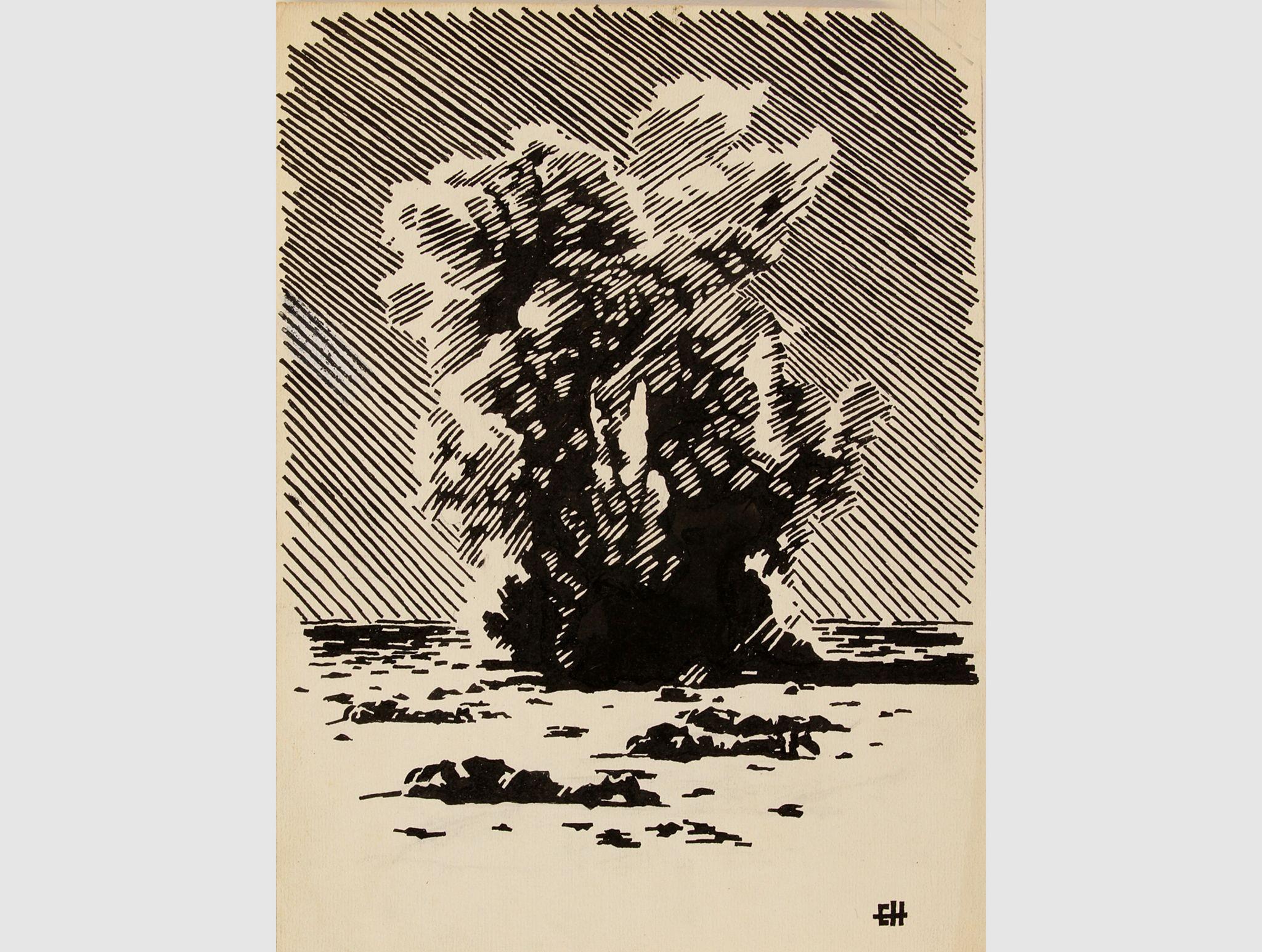 Mortar shelling at Portella, 1944