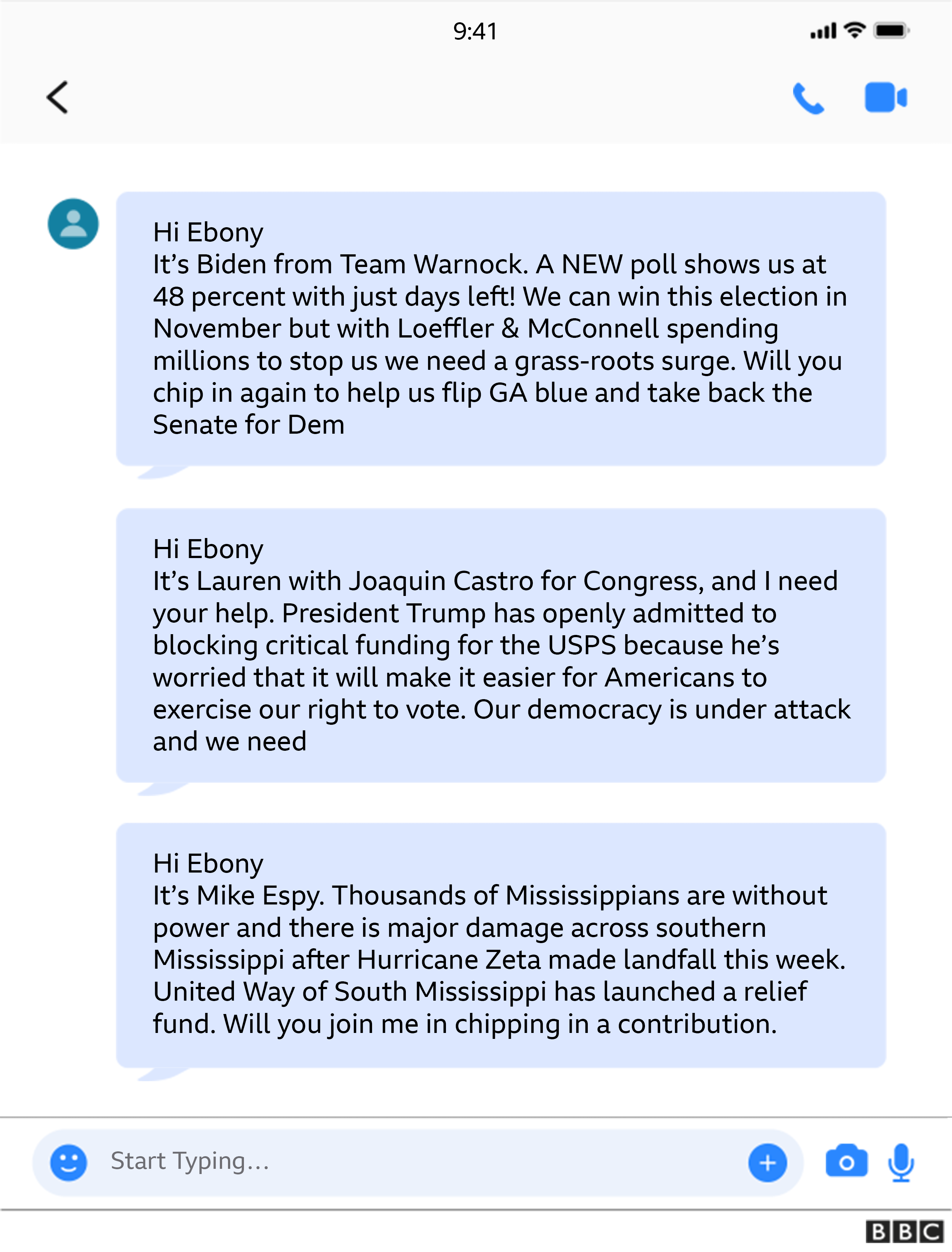 Campaign texts