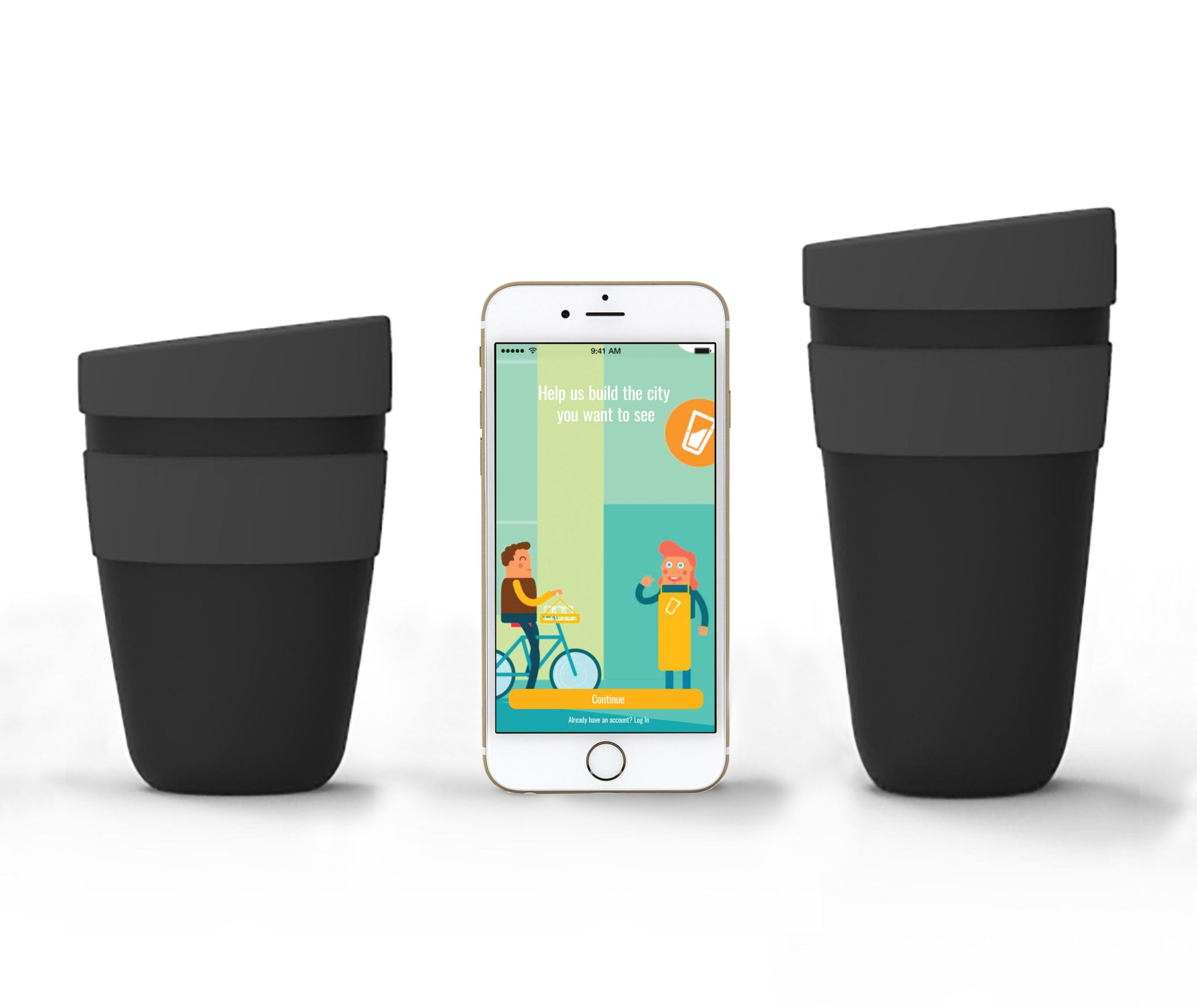 Cup club cups and phone