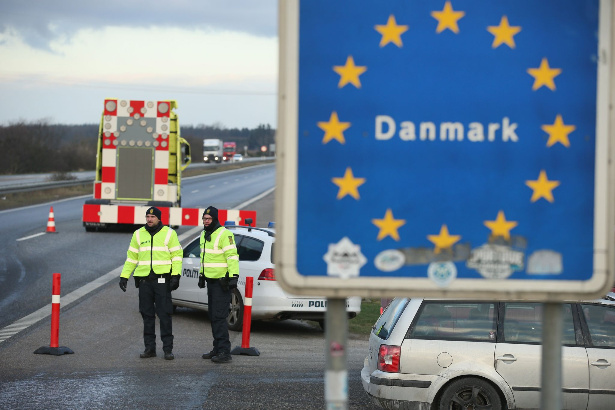 Photo of the Danish-German border