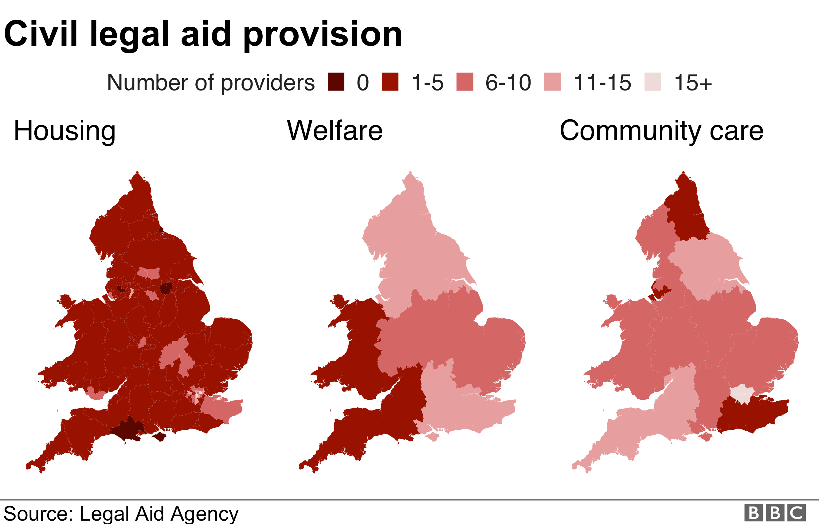Civil legal aid provision in England and Wales