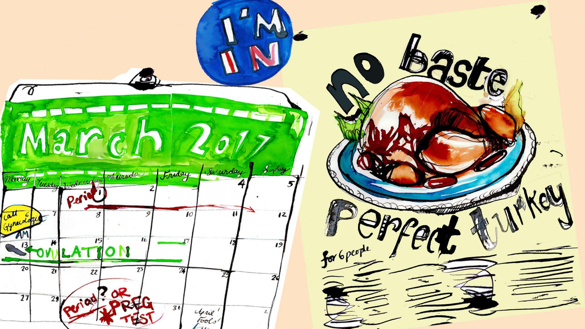 Noticeboard: Ovulation calendar, and no-baste turkey recipe