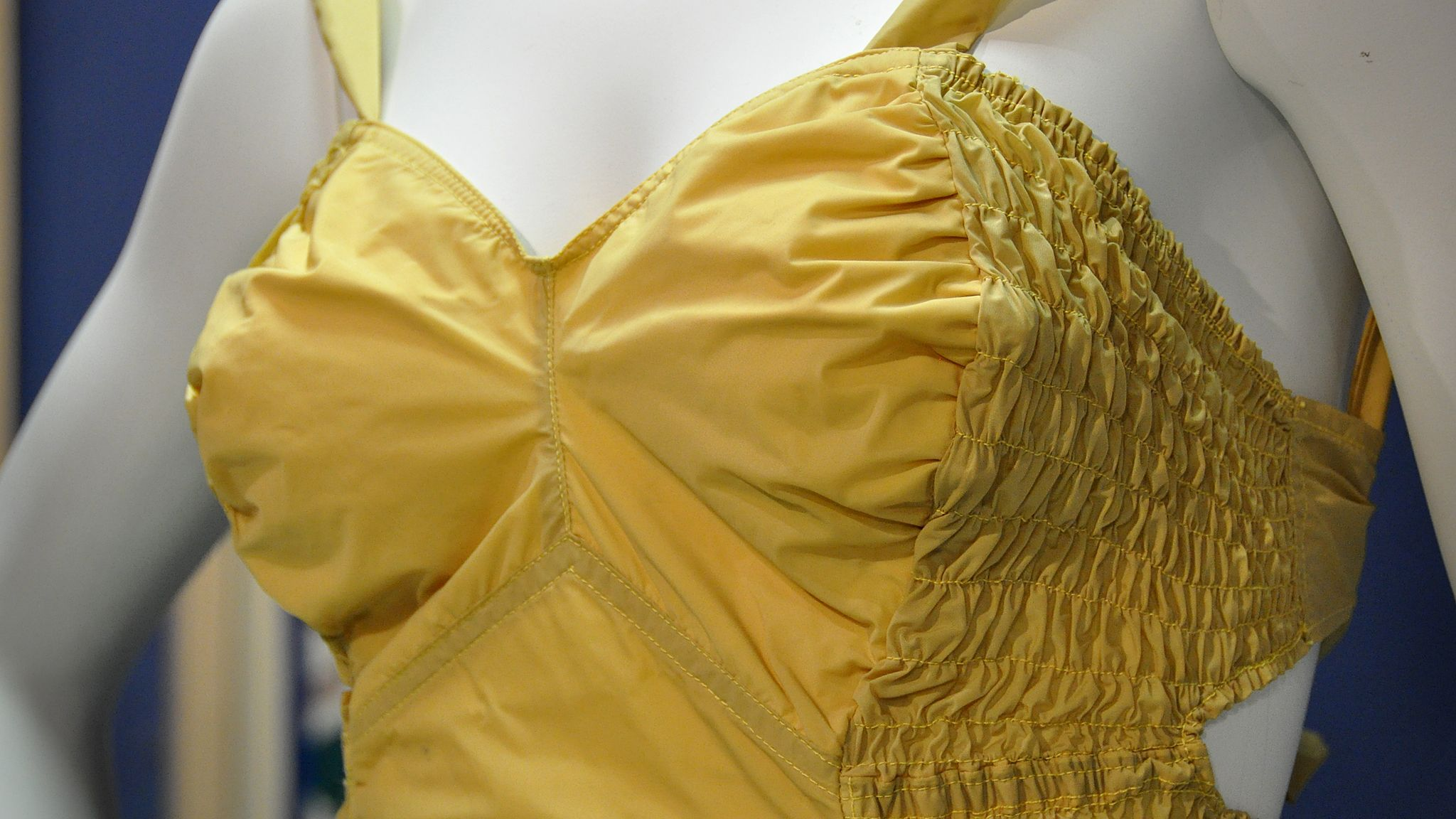 Festival of Britain swimsuit made with nylon, 1951 (detail)