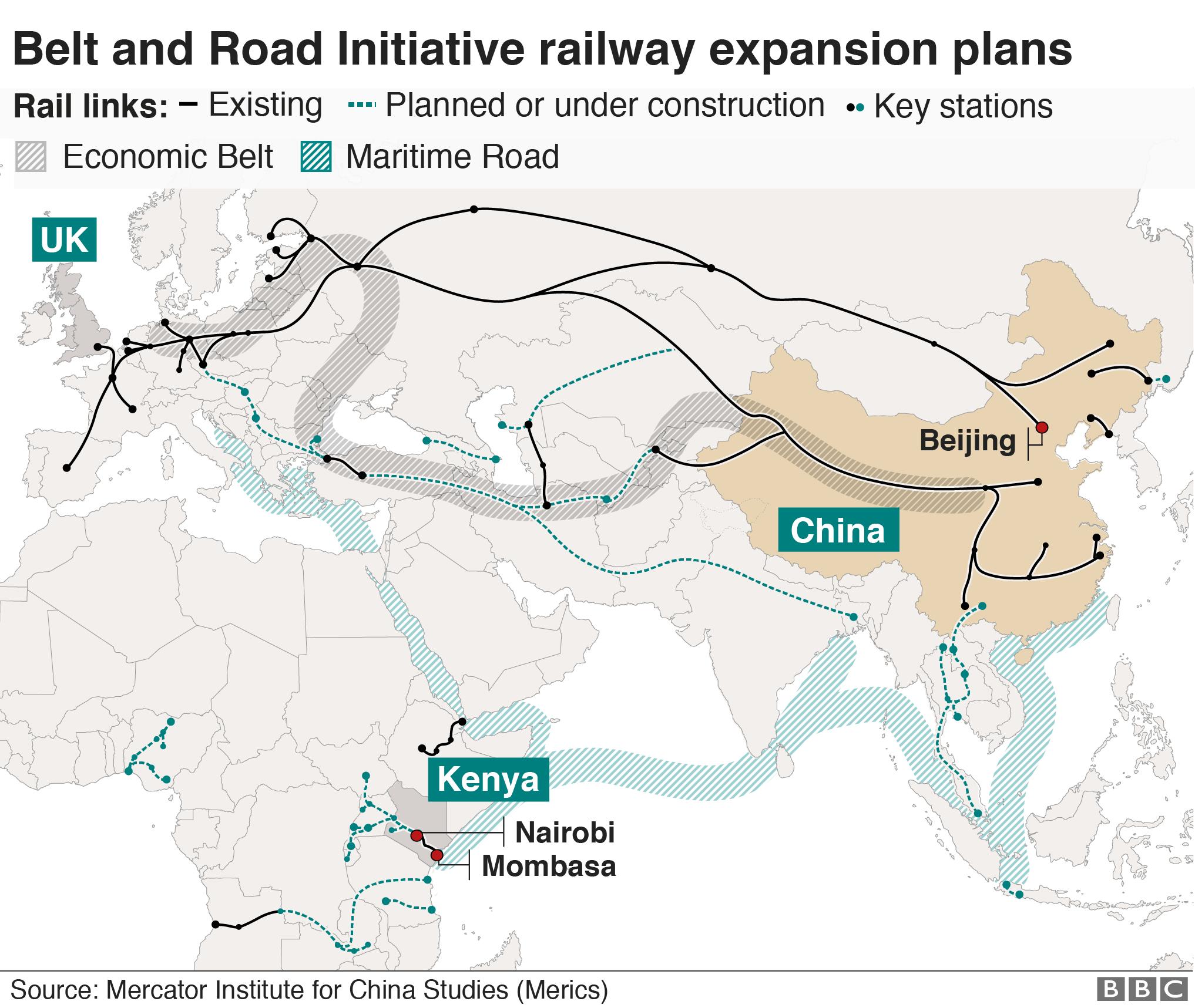 The mega-machines helping China link the world - BBC News