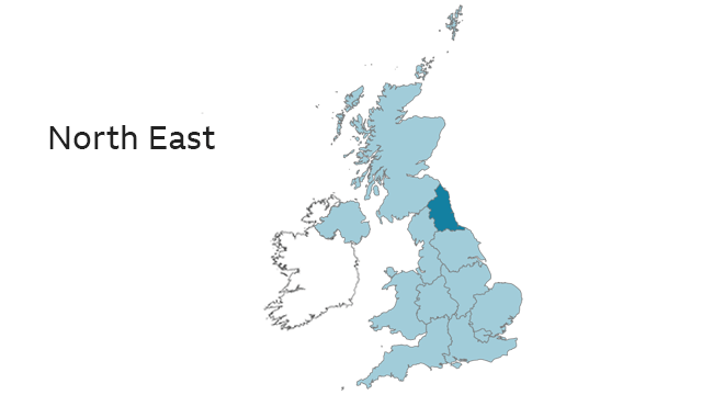 Map Of Uk North East.2019 European Elections List Of Candidates For The North East Bbc