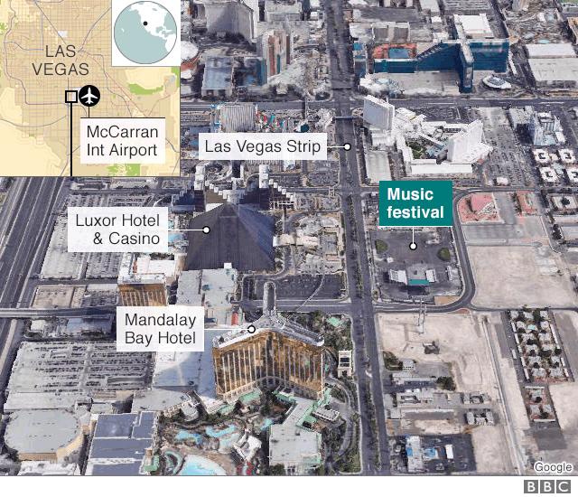 Las Vegas Shooting 50 People Don Die 200 People Dey Injured Bbc