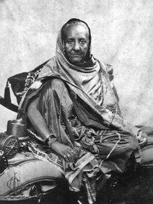 The only surviving picture of Zinat Mahal, taken in captivity in Rangoon by General McMohan.