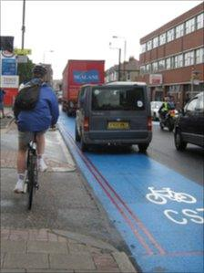 Cycle Superhighway in Colliers Wood