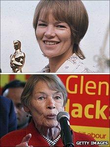 Glenda Jackson in 1971 and 2010