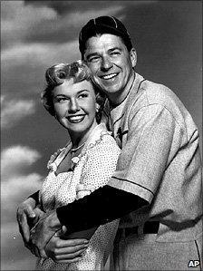 Doris Day and Ronald Reagan in 1952 film The Winning Team