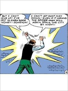 Panel from a Spider-Man comic