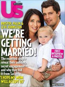 Bristol Palin and Levi Johnston on the cover of US Weekly