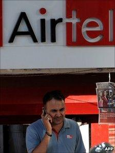 A man on a mobile phone