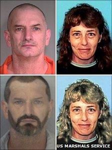 John McCluskey and Casslyn Welch (bottom two images digitally manipulated by US Marshals Service)