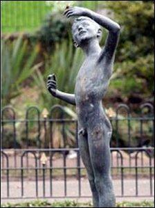 Stolen statue