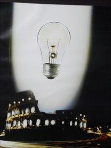 Mock advert for what a sponsor could do with the colosseum, from Saatchi and Saatchi