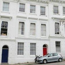 Eileen Nearne's home in Lisburne Square, Torquay