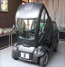 Gordon Murray's T.25 with the cabin tilted forward to give passengers and driver access