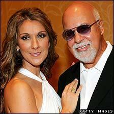 Celine Dion with husband Rene Angelil