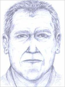 Police artist's drawing of what Joe Shipton looked like before he died