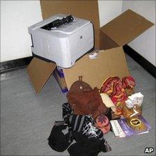 The explosive device found in Dubai
