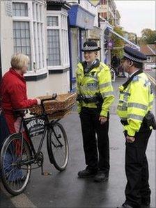Police talking to resident in Malton