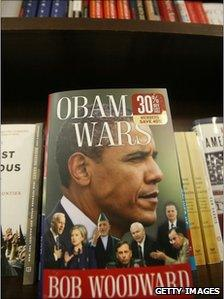 Bob Woodward's Book, Obama's Wars, in a New York bookstore, Sept 2010