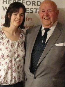 Zoe Coward and her grandfather Horace who are graduating together from The University of Worcester