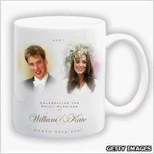 William and Kate wedding memento mug