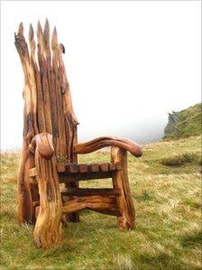 The chair on Cadair Idris