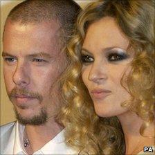 Alexander McQueen and model Kate Moss