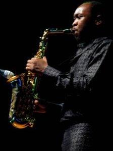 Seun Kuti, an Afrobeat musician in Nigeria