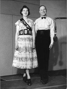 Clog dancers Johnson Ellwood and his daughter Mary