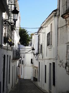 Streets of Cazalla de la Sierra, Spain
