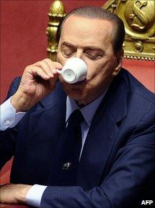 Italian Prime Minister Silvio Berlusconi in the Senate (14 Dec 2010)