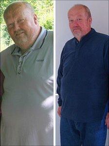 Successful slimmer Michael Adams