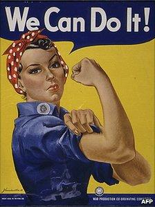 A Rosie the Riveter poster