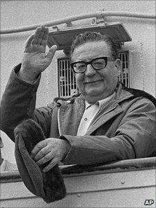 1971 picture of late Chilean President Salvador Allende
