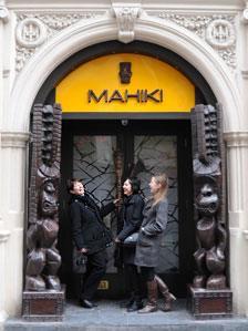 The royal wedding tour outside Mahiki nightclub